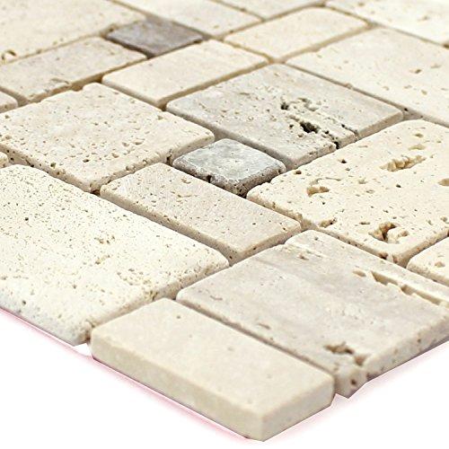Selbstklebende Travertin Naturstein Mosaik Fliesen Beige
