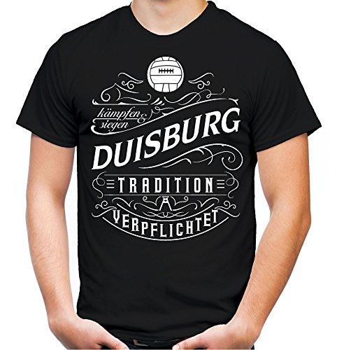 Mein Leben Duisburg T-Shirt | Freizeit | Hobby | Sport | Sprüche | Fussball | Stadt | Männer | Herren | Fan | M1 Front (XL)