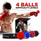Champs MMA Boxing Reflex Ball - Equipo de Boxeo Fight Speed, Boxing Gear Punching Ball Ideal para Velocidad de reacción y coordinación Mano-Ojo Entrenamiento Bolsa Reflectante Alternativa (4-Set)