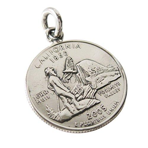本物のアメリカのコインペンダント(4) カリフォルニア州 メンズ レディースコイン 硬貨 アクセサリー メンズ レディース 海外