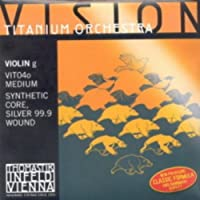 CUERDA VIOLIN - Thomastik (Vision Titanium Orchestra/Vit04o) (Alma Sintetica/Entorchado Plata)4ェ M4/4