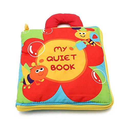 no t/óxico beb/é de la Tela de Tela Libro de Juguetes educativos de Aprendizaje para ni/ños peque/ños beb/és y ni/ños Perro Kacniohen Mi Primer Libro Suave