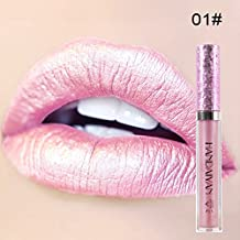 MEIQING Makeup Set Diamond Shiny Metallic Lipstick Mermaid Charming Vivid Long Lasting Liquid Lipstick Glitter Powder Lip Gloss