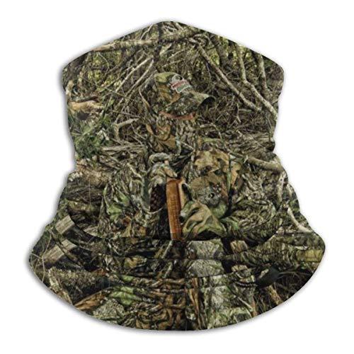 AEMAPE Caza Camo Forest Hide Mascarilla Cuello Calentador de Cuello Bufanda Bandana Bufanda Pasamontañas