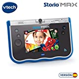 VTech- Storio MAX Tablet educativa para niños, multifunción, Pantalla táctil de 5', cámara giratoria 180º, Fotos y vídeos (80-183822), Color Azul (3480-183822)