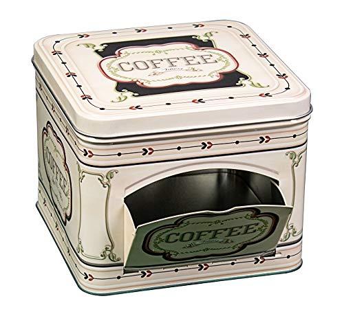LGVSHOPPING Scatola in Latta Porta Capsule Capsula e Cialde Caffe Cialda Apertura Laterale