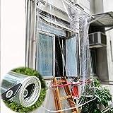 365 g/m² Telone Impermeabile Trasparente,Tessuto Esterno in Plastica per Tenda da Sole,Telone Isolante Anti-Invecchiamento,per Copertura di Piante da Giardino,Serre,Mobili da Terrazza (2.4x3.5m)