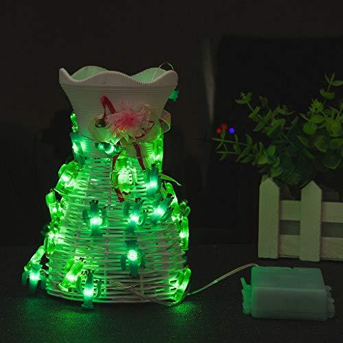 Wffo 40 luces LED de cadena de luces de cactus con mando a distancia para decoraciones, para patio, césped, jardín, boda, fiesta, decoración de Navidad