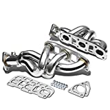 Replacement for 03-07 Nissan 350Z/Infiniti G35 3-1 Design 2-PC Stainless Steel Exhaust Header Kit (Chrome)