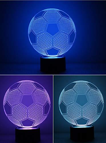 Fútbol Deportes Balón de fútbol Figura 3D Acrílico LED L