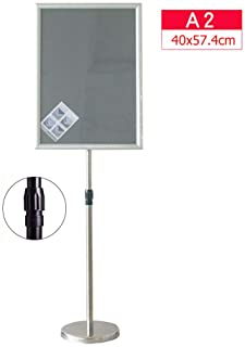 Aufsteller 4 Plakatst/änder DIN A4 Rahmen transparent Kundenstopper h/öhenverstellbar bis 68 cm Teleskopst/änder mit Fu/ß eckig St/änder Kunststoff schwarz