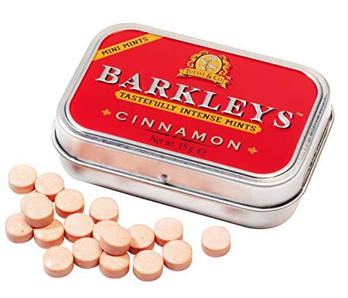 Barkleys Mini Mints Cinnamon Sugarfree 12 x15 gr. Pastillen mit Zimtgeschmack Scharf