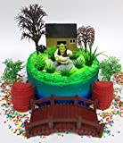 SHREK Birthday Cake Topper Set Featuring Shrek Cake Topper Figure and Decorative Accessories