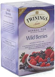 Twinings Herbal Tea Wild Berries -- 20 Tea Bags (Pack of 2)