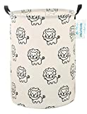 LANGYASHAN Laundry Basket Canvas Fabric Collapsible...