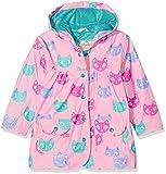 Hatley Girls' Printed Raincoat, Pink (Silly Kitties), 2 Years