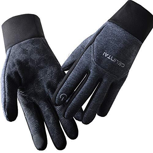 BIAL Fahrradhandschuhe Laufhandschuhe Wärme Handschuhe Leicht Touchscreen Handschuhe rutschfest Winddicht Fitness Camping Wandern Reiten Bergsteigen Winter Sport Handschuhe Damen Herren