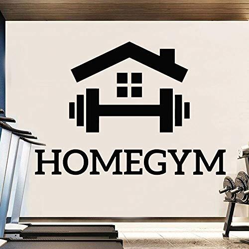 Pegatinas de pared para el hogar gimnasio con mancuernas levantamiento de pesas arte vinilo fondo de oficina pegatinas de pared para interiores decoración del hogar gimnasio