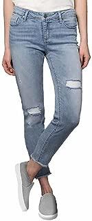 Ladies' Stretch Ankle Skinny Jeans (Light Blue, 8)