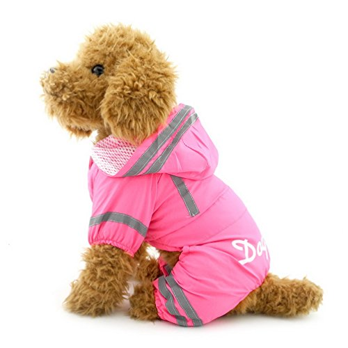 SELMAI Impermeable Impermeable Pet Rainwear Ropa para Perros pequeños...
