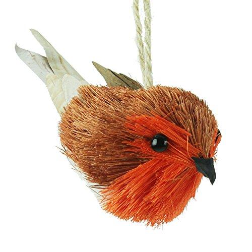 Gisela Graham Bristle Robin - Decoración para árbol de Navidad (11 cm)