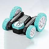 LINXIANG RC Stunt Cars, Fancy Stunt Coche de control remoto giratorio de doble cara, Coche de truco con rotación de 360 grados, Coche de juguete para regalo para niños entusiastas del todoterreno, R