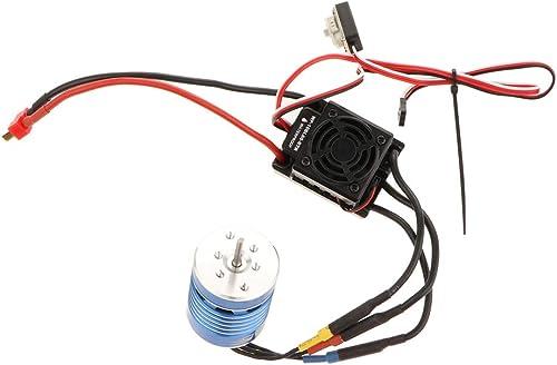 barato y de moda IPOTCH Motor sin Escibillas Escibillas Escibillas Pieza de Repuesto para 1 8 1 10 1 12 RC Car - 2200KV + 60A  tienda de descuento