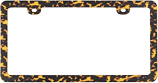 DEKECAMO Leopard License Plate Frame for US Vehicles,Leopard Animal Print Variety of Colors