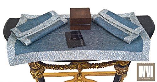 Bolognino Fernando Set centrini Azzurra Tris Centri per la casa Cucina Salotto Sala da Pranzo Realizzati artigianalemente e con possibilità su Misura