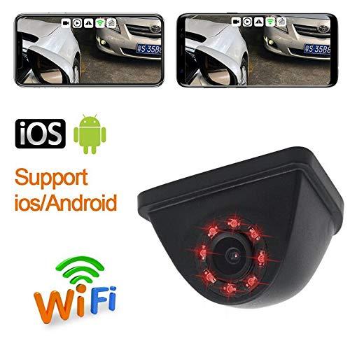 Telecamera Anteriore e Posteriore Telecamera WiFi 1080P Full HD Telecamera per Auto 170 Wide Angle HDR Visore Notturno Monitoraggio del parcheggio