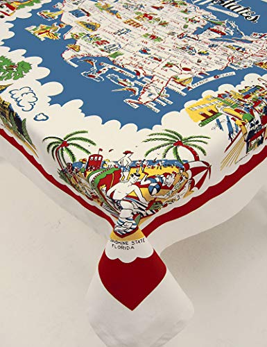 Moda Home American Wonderland Cotton Tablecloth USA Map Staycation