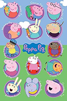 POSTER STOP ONLINE Peppa Pig - TV Show Poster/Print  Characters & Names   Size 24  x 36