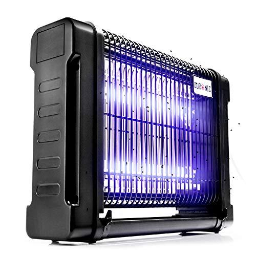 Duronic FK8416 Lampe Anti-Moustique Piège à Insectes Attrape-Mouche électrique | Tue Les moustiques, Mouches, moucherons, taons, Cousins, etc. | 2 Lampes Ultraviolet de 8W | Posé ou Suspendu