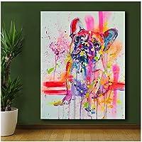 キャンバス絵画の装飾ホーム製品壁アート素敵な犬キャンバスに印刷されたキャンバス油絵現代の家の装飾のための現代の壁アート絵画-50x85cm1pcsフレームなし