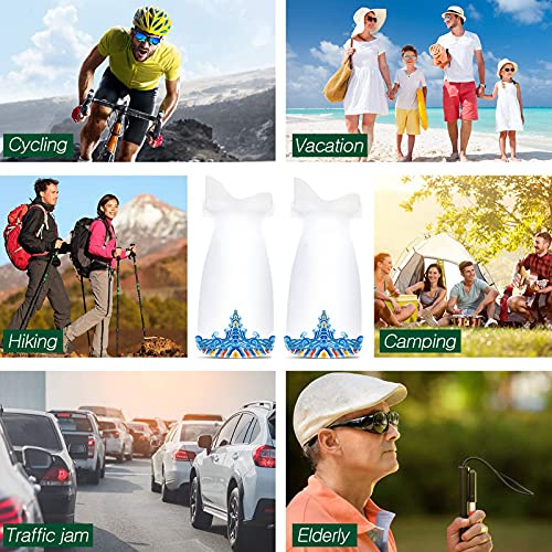 GYAM 8 Pcs Portable Disposable Urine Bags, Emergency Pee Bags, Absorbent Sealable Vomit Bags for Camping Travel Climbing Traffic Jam for Men Women Kids Patient