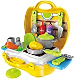Toys & Games Beautiful kitchen set with very attractive design Made fully of non-toxic plastic. Kids will have unlimited fun without any issue This Cute Activity Toy as A Great Way to Encourage Creative Play and Motor Skill Development Color: Yellow;...