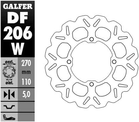Galfer Solid Mount Wave Max 82% OFF Brake 5 ☆ very popular Rotor - Co for Kawasaki 08-21 Rear