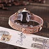 LSAltd Damenuhren Quarzuhr Lässige Edelstahlband Marmorarmband Armbanduhr als Geschenk