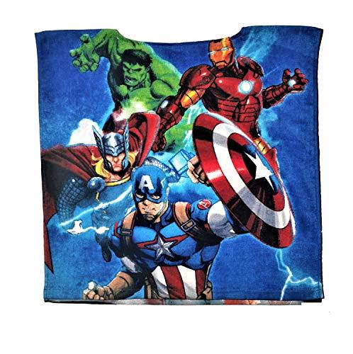 Marvel Toalla poncho infantil de los Vengadores (multicolor)