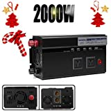 Autobaba Digital Display Car Power Inverter 2000W 12V DC to 110V AC Modified Sine Wave Converter 2 AC Outlets & 4 USB Charging...