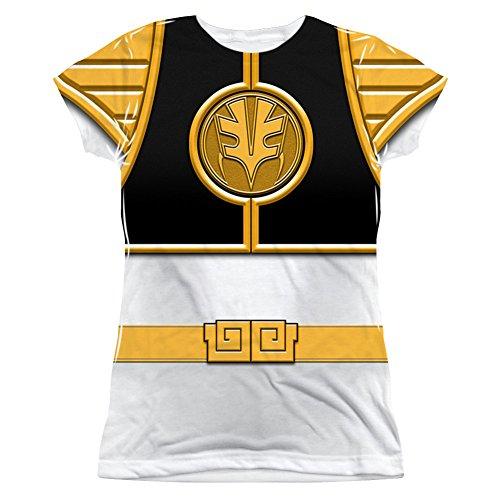 Power Rangers – Camiseta Juniors de color blanco Ranger