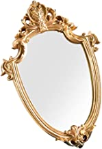 BESPORTBLE Vintage Decorative Wall Mirror Gold Shield Shape Hanging Mirrors for Bedroom Living Room Dresser Decor Home Dec...