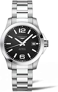 Longines Conquest Black Dial Stainless Steel Automatic Mens Watch L3.776.4.58.6
