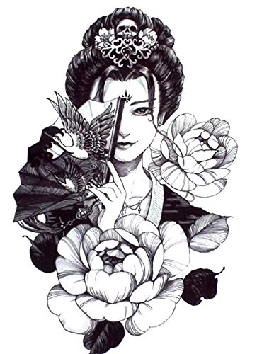 geisha tattoo rücken