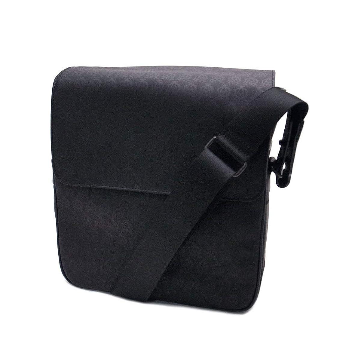 ジョブスクラップブック道徳の[ダンヒル] バッグ L3K760A ショルダー ウィンザー メッセンジャー PVC×レザー ブラック