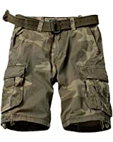 KOCTHOMY Men's Cotton Classic Cargo Shorts Casual Relaxed Fit with Multi Pocket C34 Retro Camo 32