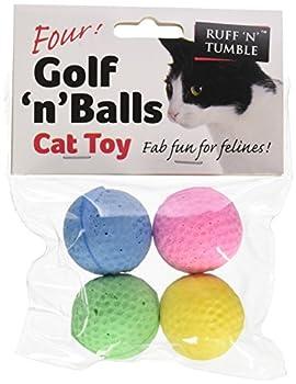 Ruff'N'Tumble Golf'n'Balls Lot de 4 balles de Golf pour Chien