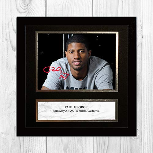 Good With Wood Yorkshire Póster de Paul George NBA Oklahoma City Thunder (marco negro)