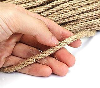 JAP768 6 mm 1 M-50 m Alami Yute Tali Benang Tali Rami Kabel Twisted Macrame String DIY KERAJINAN BUATAN TANGAN HIASAN Hewa...