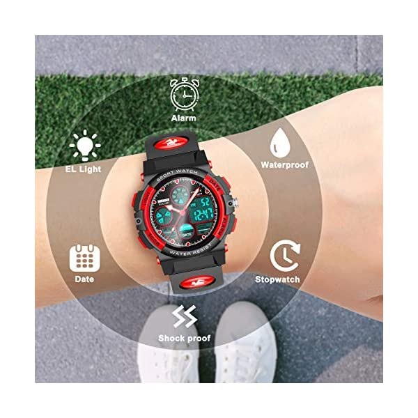 LET'S GO! Sports Digital Watch for Kids Gifts for 5-12 Year Old Boys Girls LED Multi Function Waterproof Watch – Best Gifts